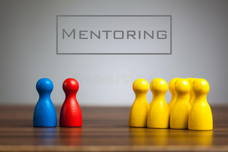 Download Mentoring Concept With Pawn Figurines On Table Stock Image - Image of confrontation, leisure: 85548769