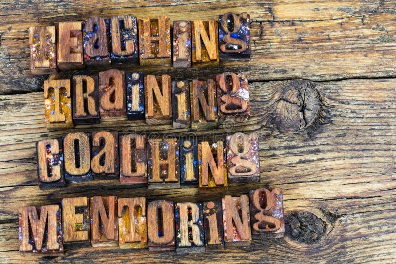 Mentoring för undervisningutbildningscoachning arkivbild