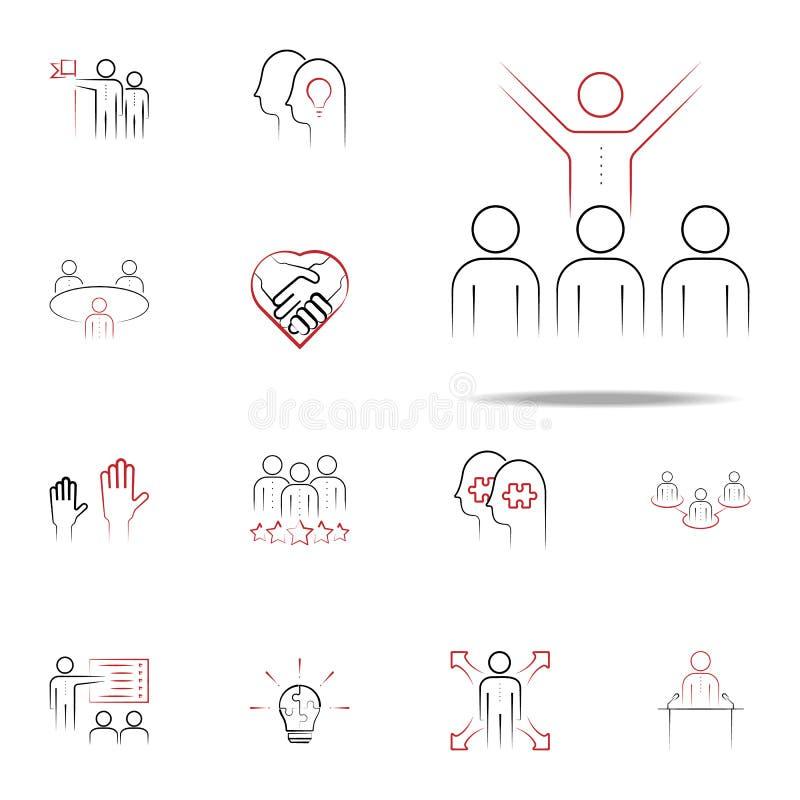 mentorship gekleurd hand getrokken pictogram Voor Web wordt geplaatst dat en het mobiele algemene begrip van teampictogrammen stock illustratie