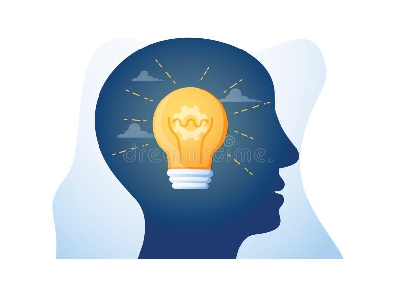 Mentorshipconcept, begeleiding en leiding, empathie en communi royalty-vrije illustratie