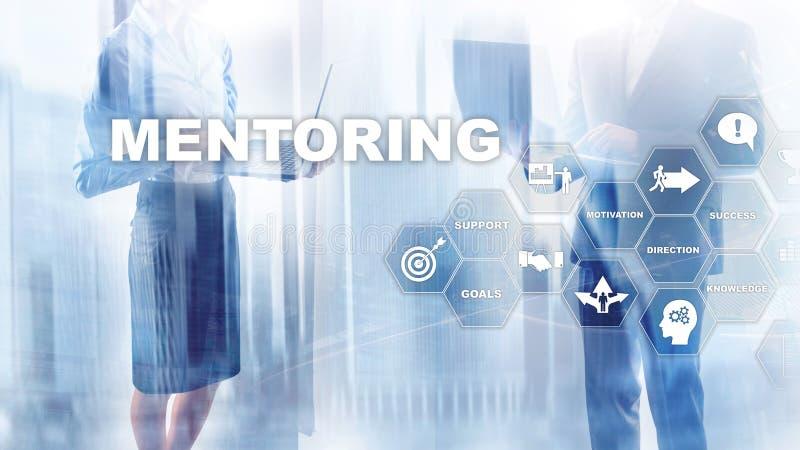 Mentorstwo biznesowe Trener osobisty Szkolenie koncepcji rozwoju osobistego Multimedia mieszane obrazy stock