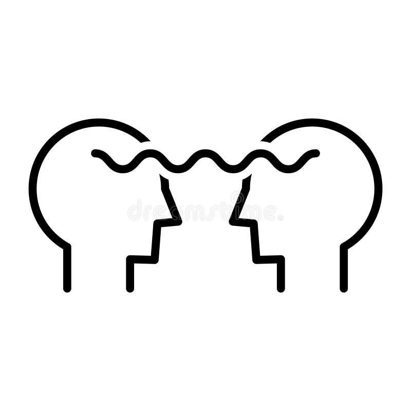 Mentorsymbol, vektorillustration vektor illustrationer