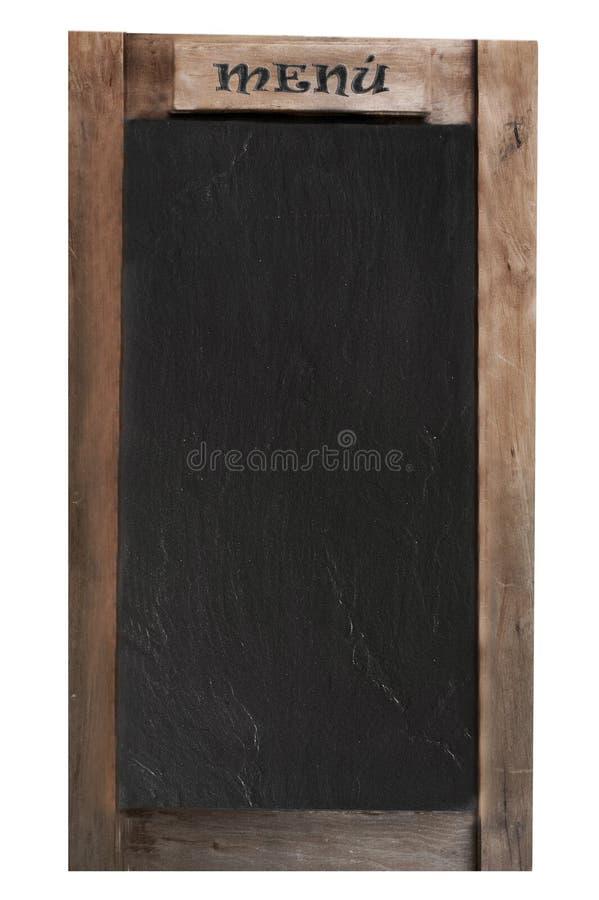 Menu's blackboard stock photography