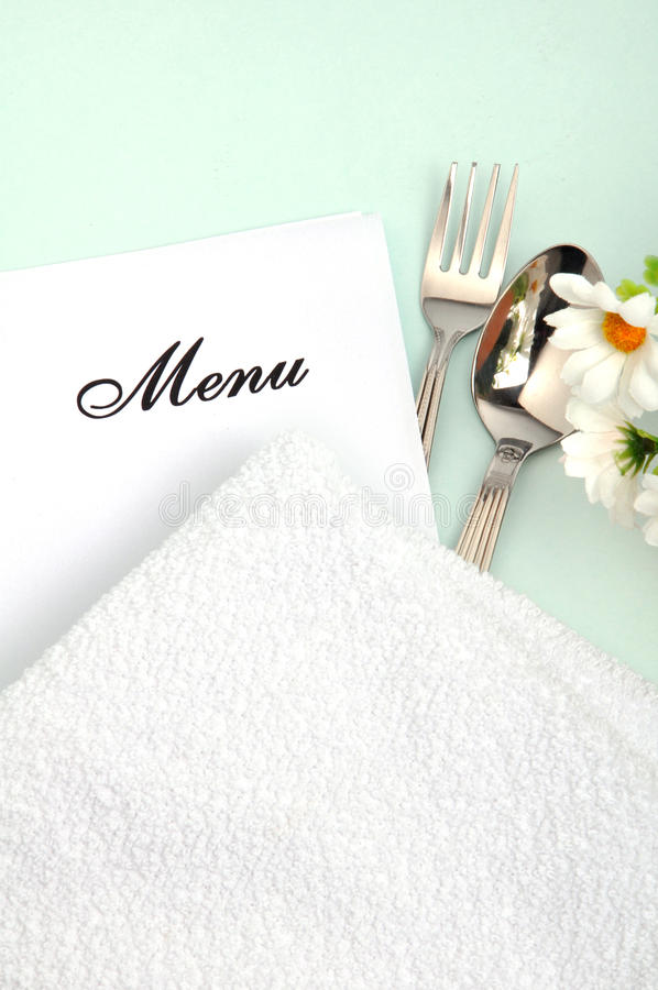 Download Menu stock image. Image of catering, card, spoon, cloth - 10742347