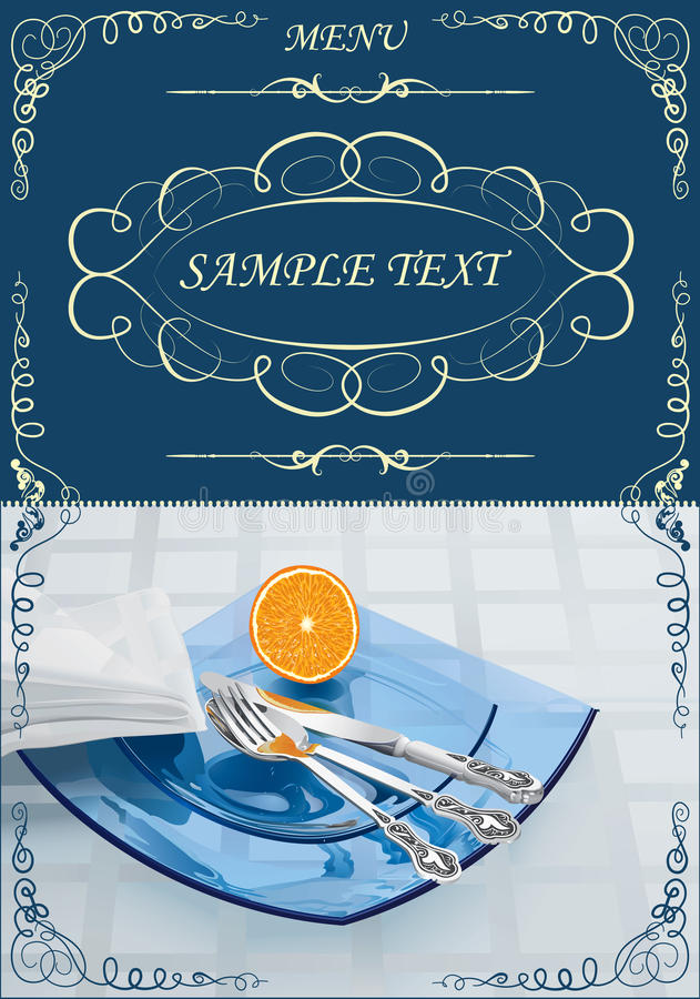 Menu illustrazione di stock