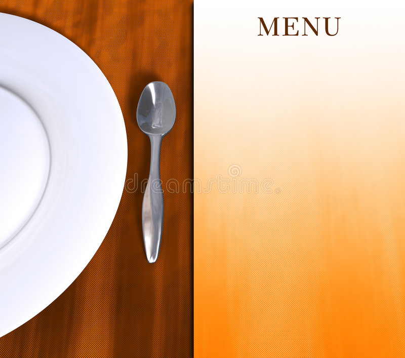 Menu royalty free illustration