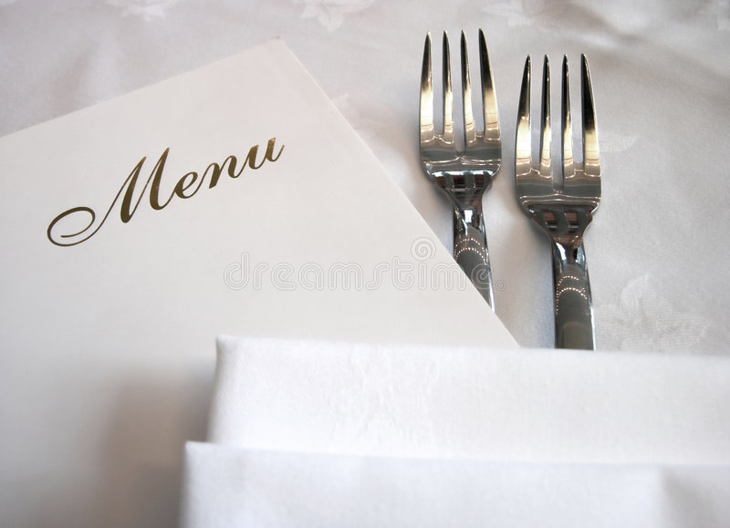 Menu fotografie stock