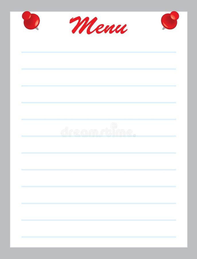 Download Menu stock vector. Illustration of page, background, cafe - 23832231