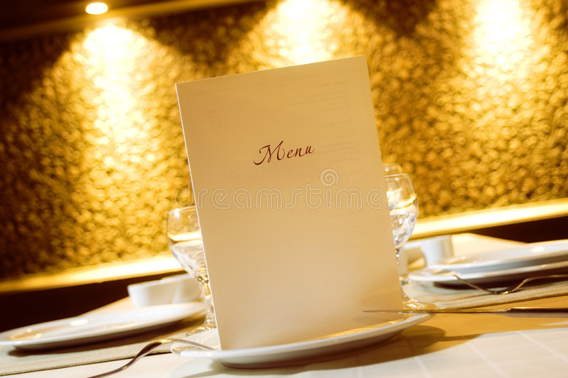 Menu. For easy adjustment for every restaurant royalty free stock photos