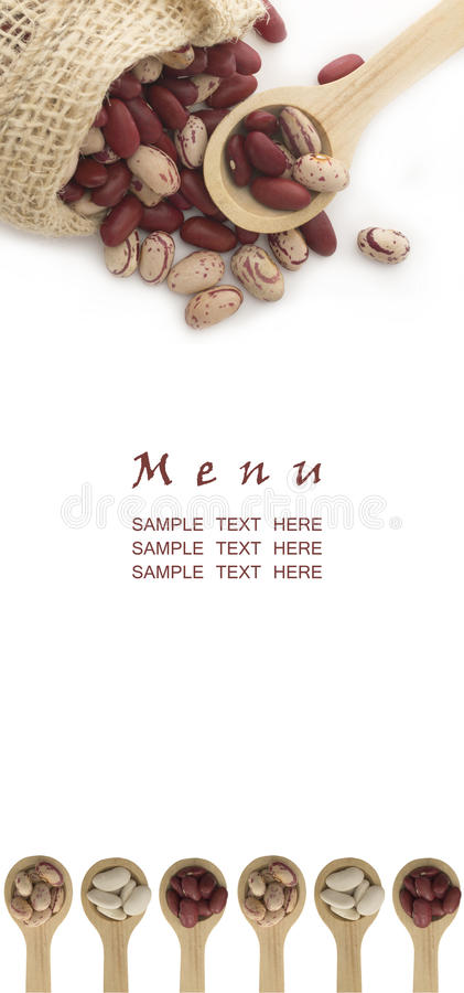 Download Menu with beans stock image. Image of chickpea, black - 18863779