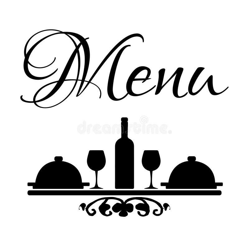 Menu. Black and white menu logo stock illustration