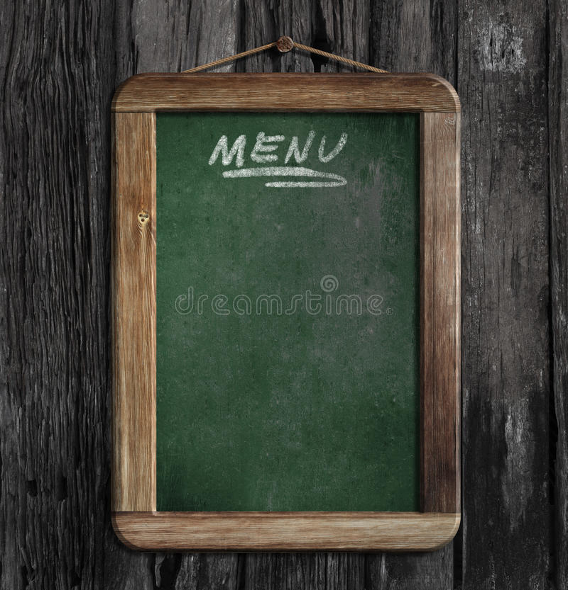 Menu blackboard w restauraci lub chalkboard obraz royalty free