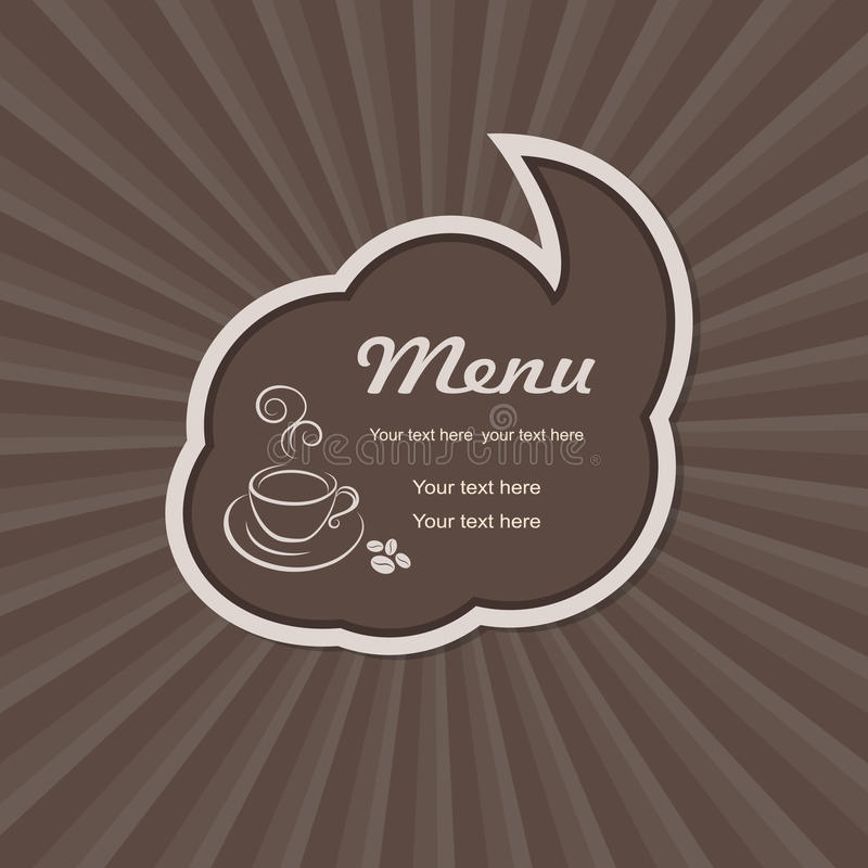 Download The Menu For The Cafe With A Cup Stock Vector - Illustration: 25420940