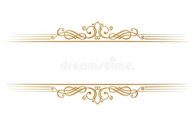 Menu calligrafico del ristorante Modello d'annata del libro di vettore dell'ornamento Retro confine della cartolina d'auguri, inv illustrazione vettoriale