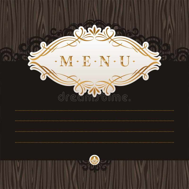 Download Menu With Calligraphic Decorative Frame Royalty Free Stock Photography - Image: 19521927