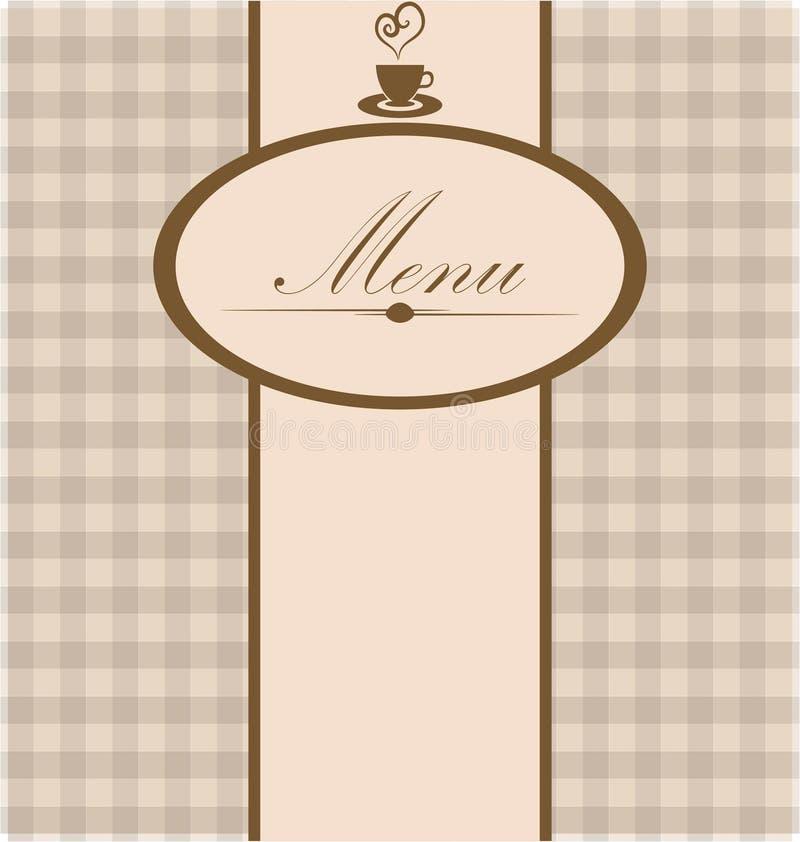 Menu card vector illustration
