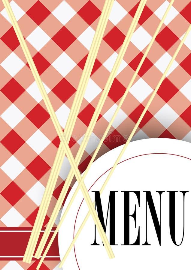 Menu Card Design vector illustration