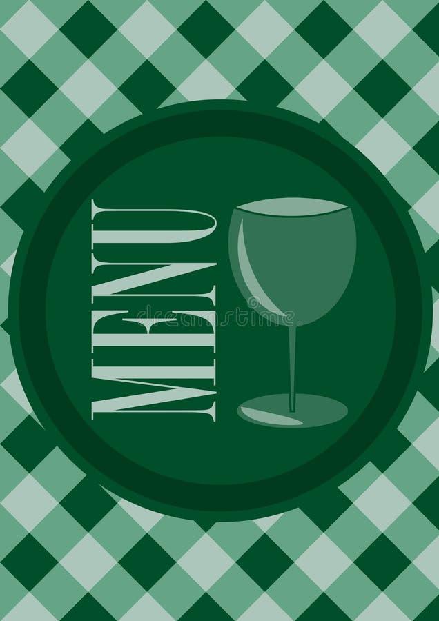Menu Card Design royalty free illustration