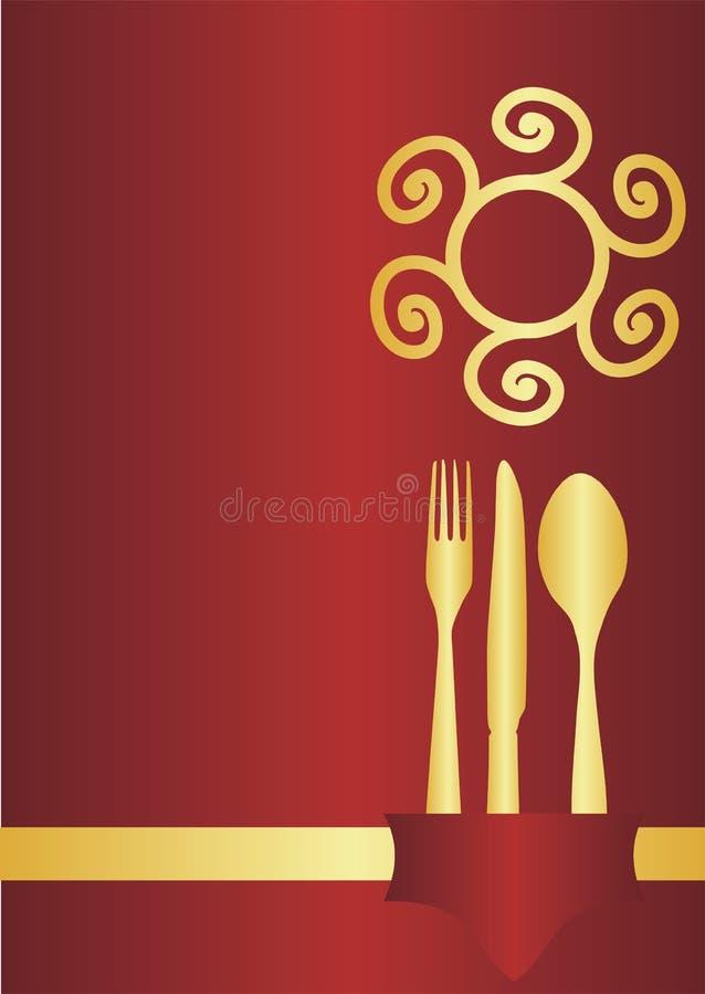 Menu Card Design Stock Vector Illustration Of Knife Green