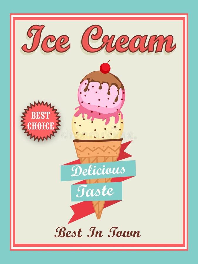 Menu Card Design For Ice Cream Stock Illustration Illustration Of