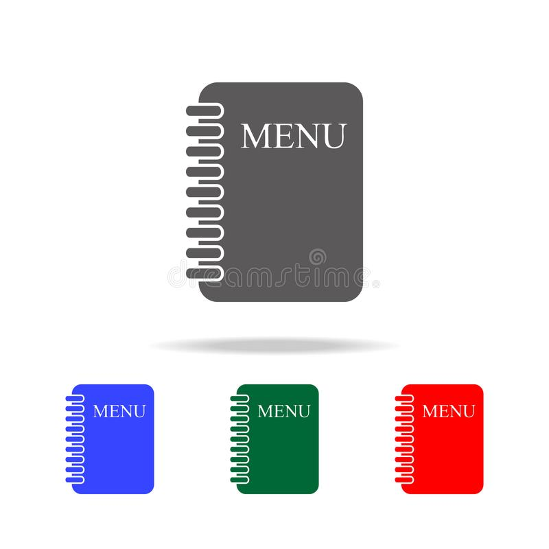Menu Card icon. Elements of cooking multi colored icons. Premium quality graphic design icon. Simple icon for websites, web design. Mobile app, info graphics royalty free illustration