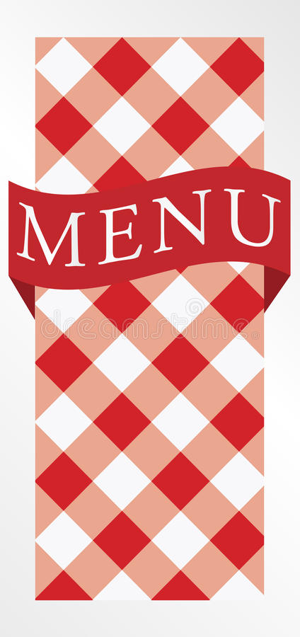 Download Menu Card - Red Gingham stock vector. Image of invitation - 17728248