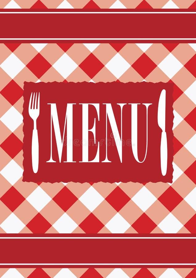 Download Menu Card - Red Gingham stock vector. Image of restaurant - 17859372