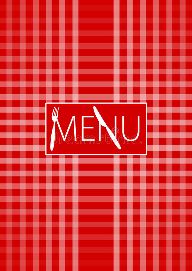 Download Menu Card - Red Gingham stock vector. Illustration of checked - 17861165