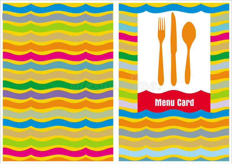 Download Menu Card template stock vector. Image of invitation - 16525787