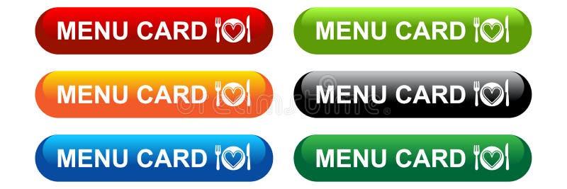 Menu card web button icon vector illustration