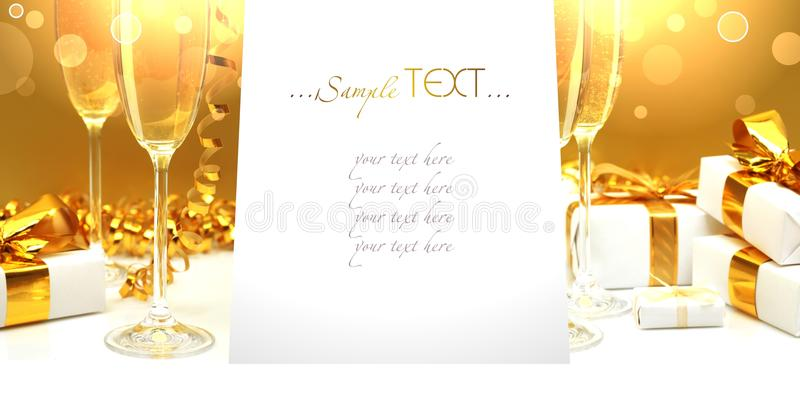 Menu for a celebratory feast banner. royalty free stock images