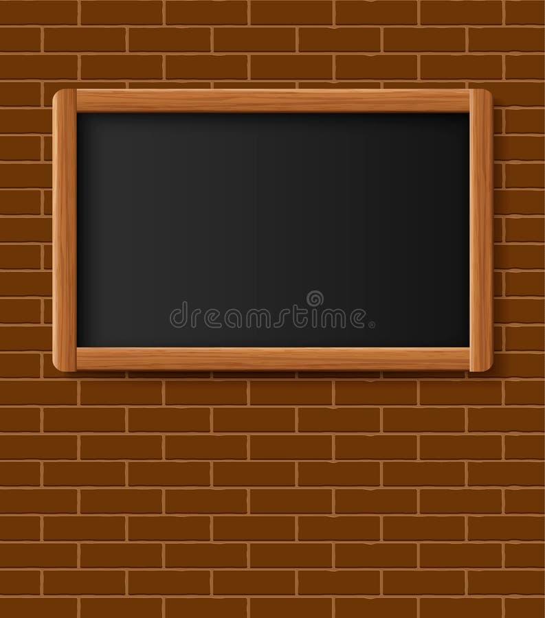 Menu Chalkboard, Bulletin Board Hanging On Brick Wall. Frame Of ...