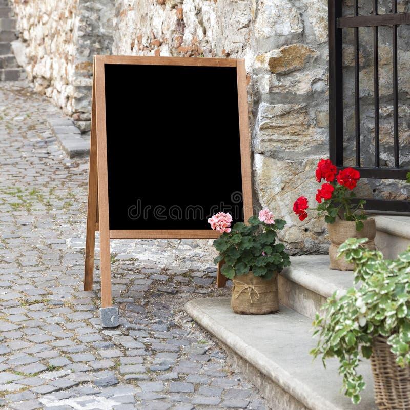 Menu chalkboard stock image