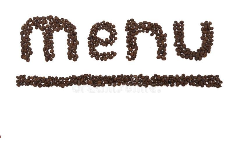 Menu Coffee Royalty Free Stock Photos