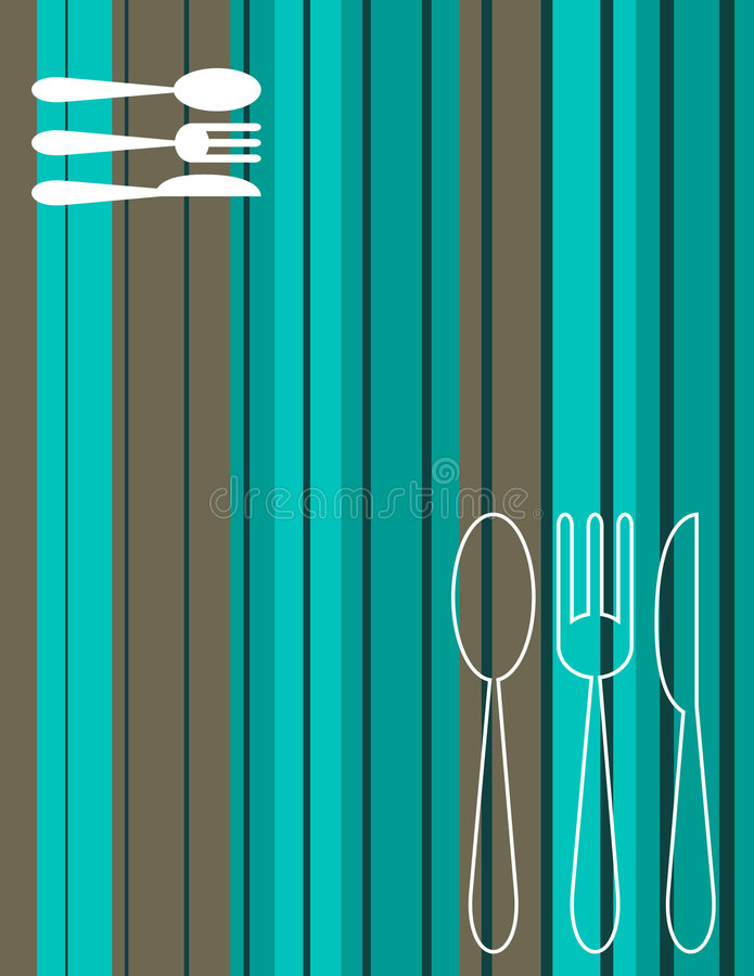Menu cover stock illustration
