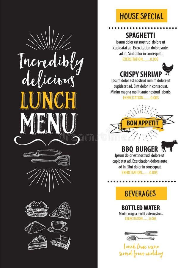 Menu cukierniana restauracja, szablonu placemat Jedzenie deski projekt ilustracji