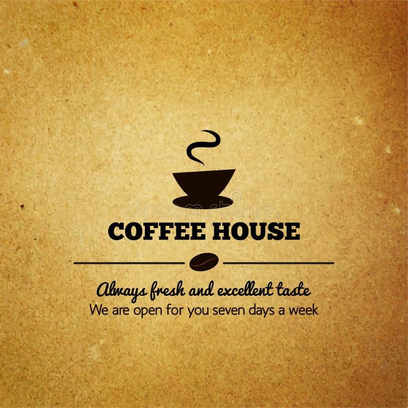 Menu d'annata per il ristorante, caffè, caffè illustrazione vettoriale