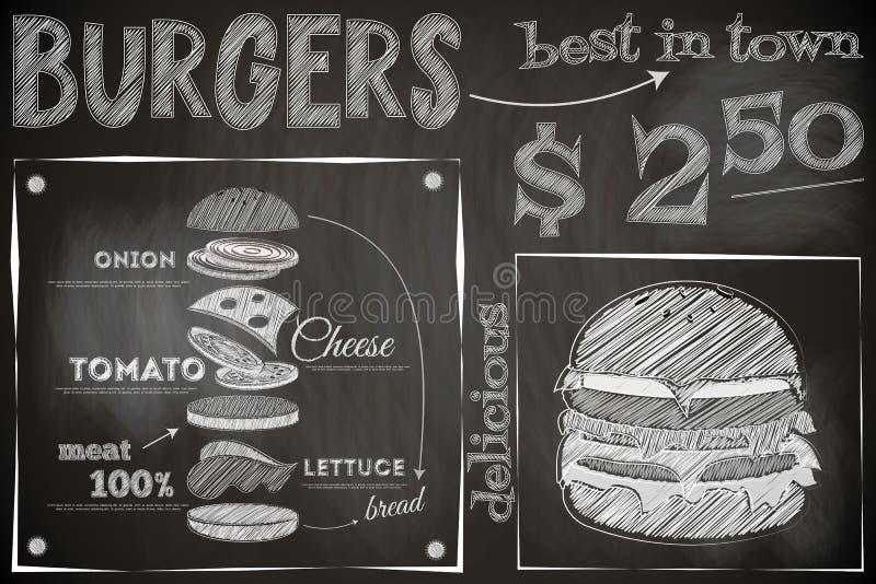Menu d'hamburger illustration libre de droits