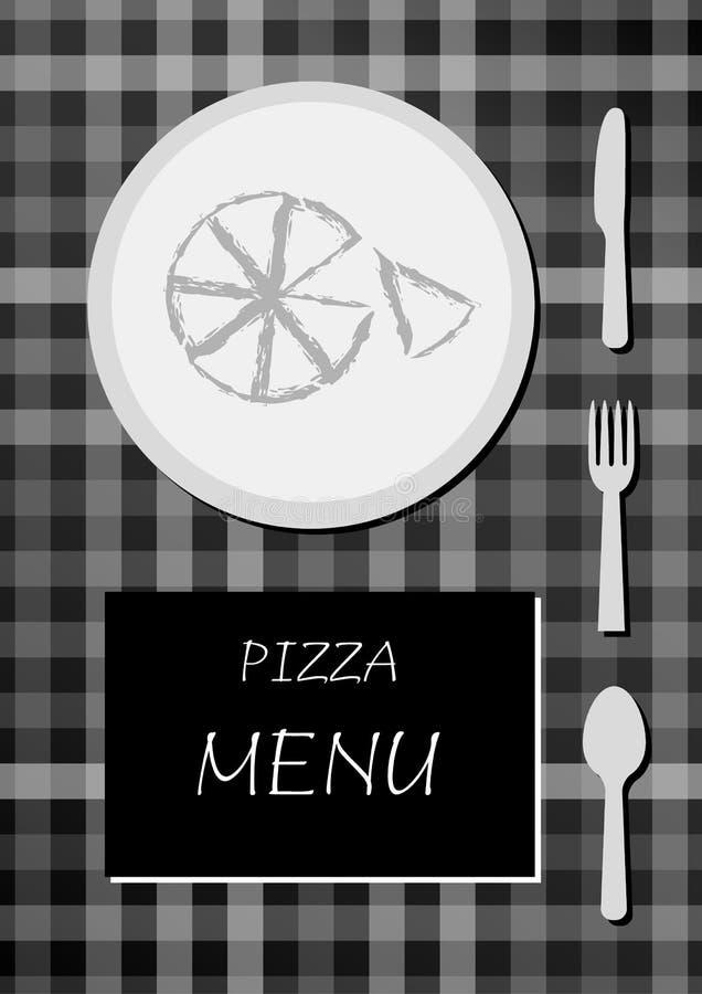 Menu da pizza ilustração do vetor