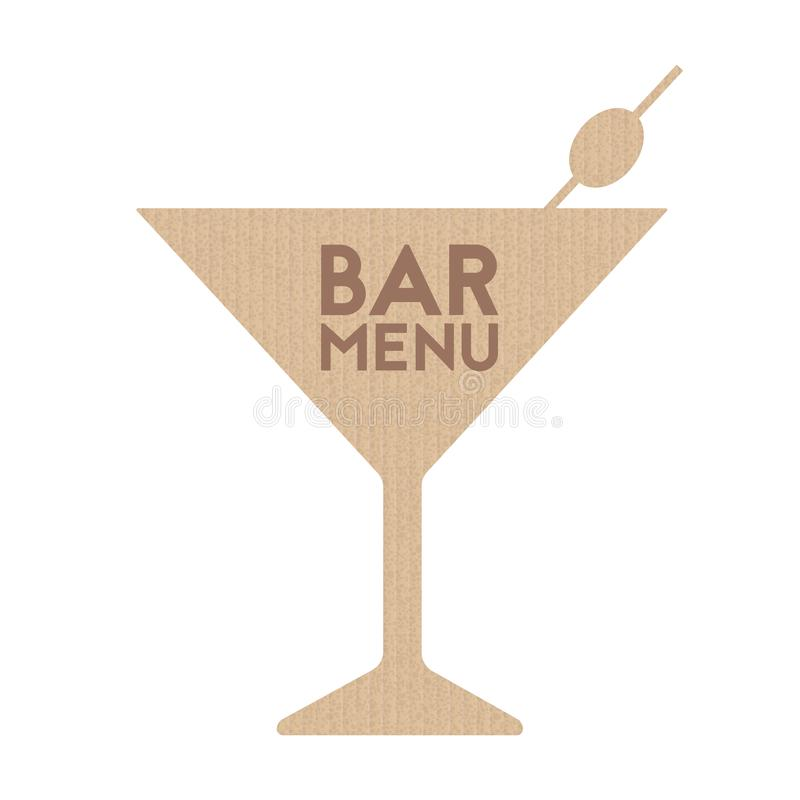 Menu de barre illustration stock