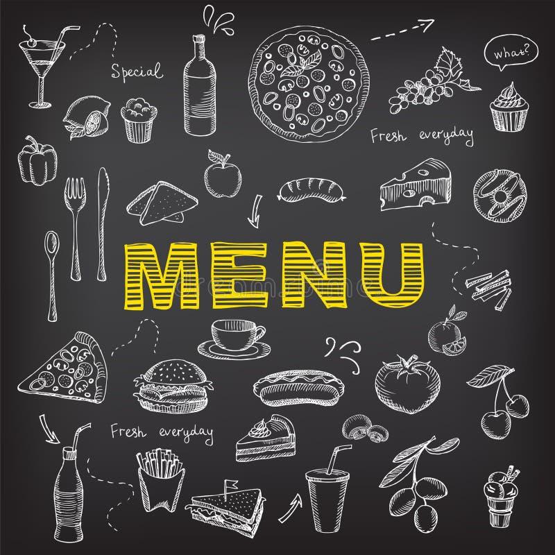 Menu de café de restaurant, conception de calibre illustration libre de droits