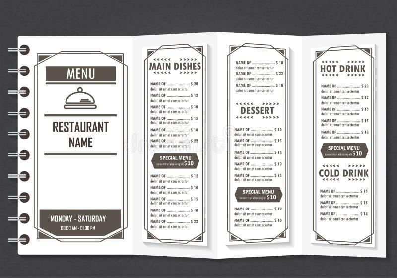 Menu de conception de restaurant illustration de vecteur