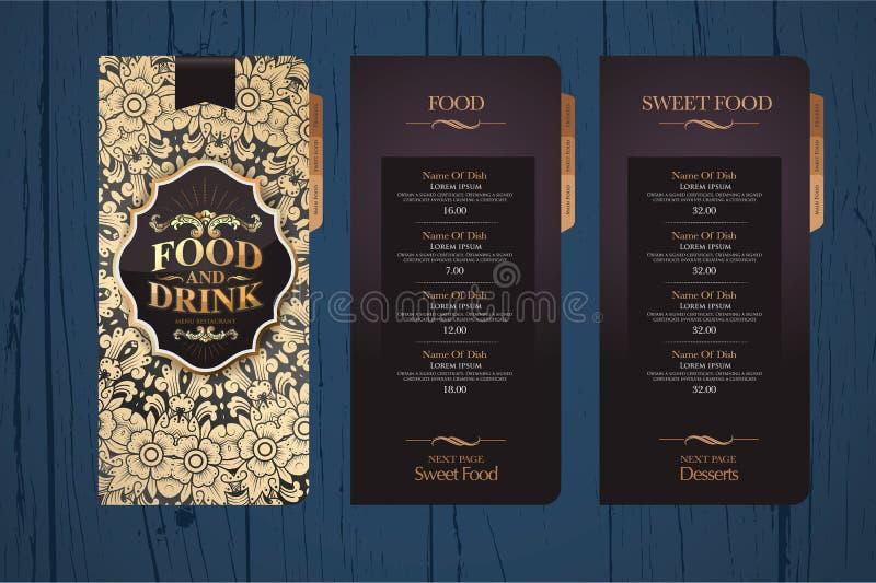 Menu de conception pour des restaurants illustration stock