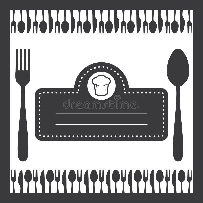 Menu de couverts de café de nourriture illustration libre de droits