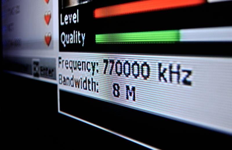 Menu de DVB-T na tela foto de stock