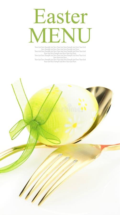 Menu de Easter fotografia de stock