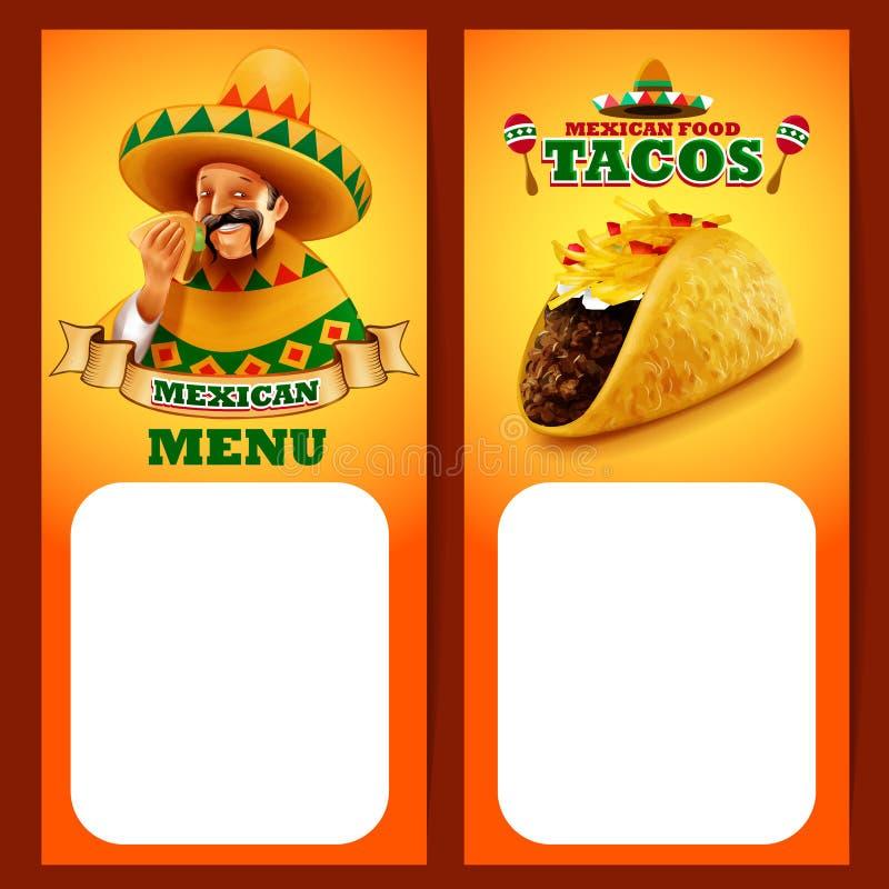 MENU de Mexicain de Tacos illustration libre de droits