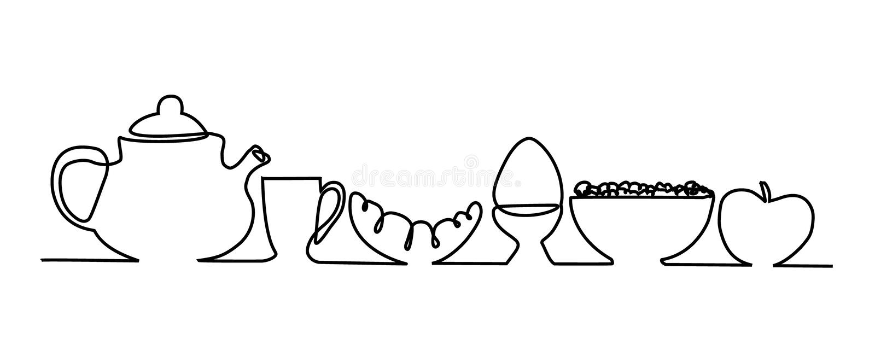 Menu de petit déjeuner illustration stock