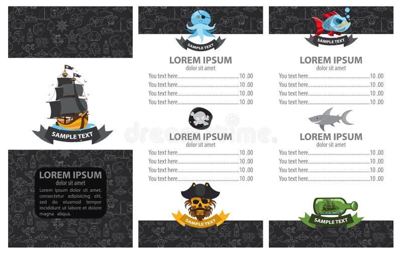 Menu de pirate illustration libre de droits