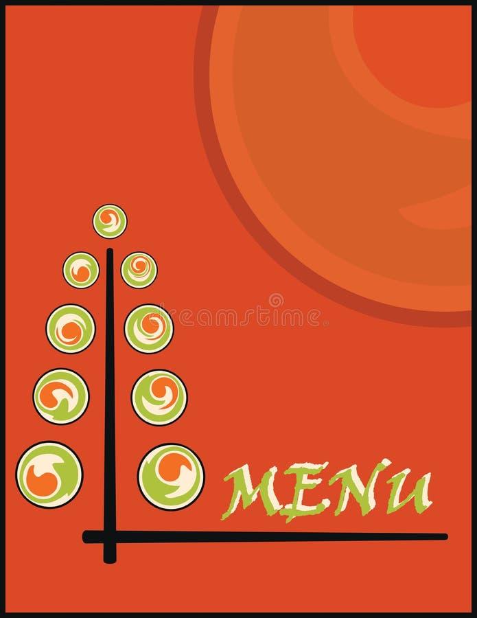 Menu de sushi illustration de vecteur
